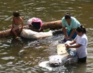 pic washing at the river a